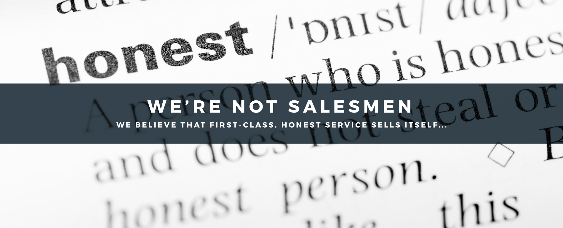 We're Not Salesmen